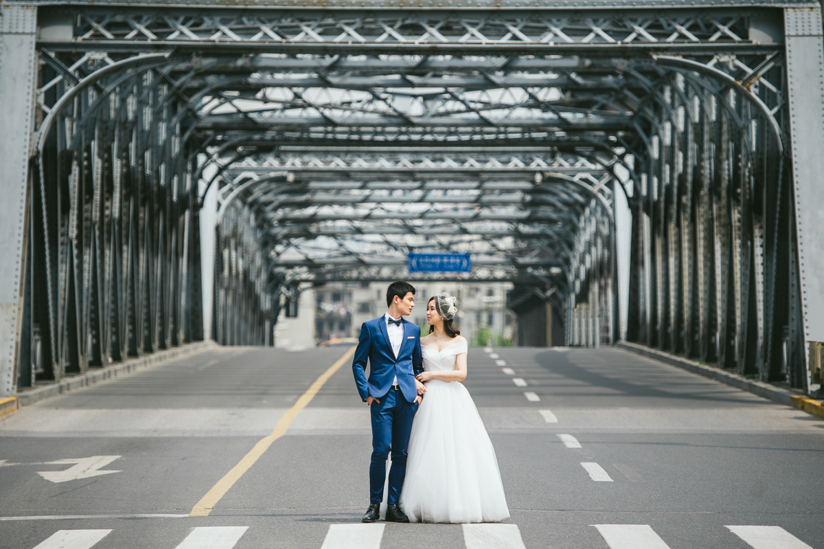 婚紗攝影,上海婚紗 外灘, 車墩, 復旦大學,海外婚紗