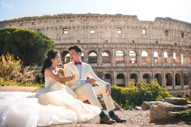 婚禮攝影, 義大利, 羅馬古堡, 海外婚禮